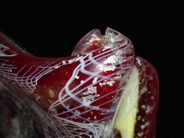 FRATELLI TOSO Murano ROTICELLO Ribbons Decanter Vase