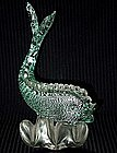 SEGUSO Murano 40s SILVER FLECKS FISH Sculpture