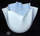 Murano Large AVEM Blue FAZZOLETTO Vase w 2 Labels!