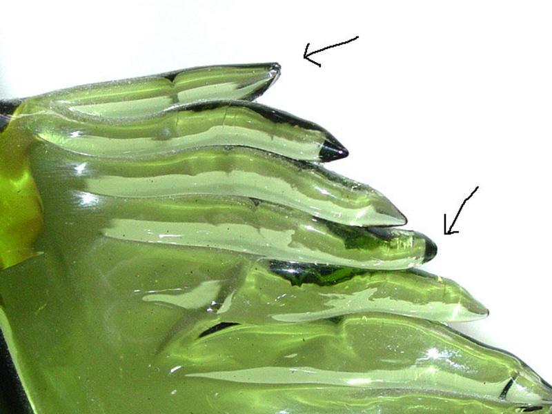 Murano BARBINI 50s Green LEAF Shaped Sculpture