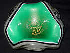 Murano SEGUSO 4 Layer Green PULEGOSO Triangle Ashtray