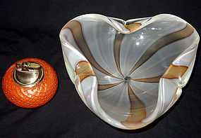 Murano BARBINI Circus Tent OPALESCENT Center Bowl