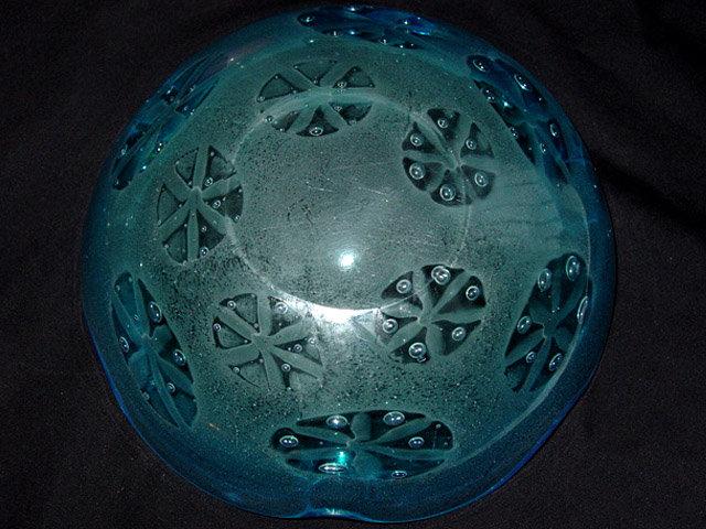 RARE Murano BARBINI VAMSA Blue SFUMATO Stars Bowl