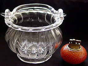 Murano SEGUSO Crystal Clear BASKET Vase Working Handle