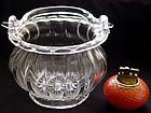 Murano SEGUSO Crystal Clear BASKET Vase Working Handle