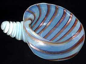 Muano OPALESCENT Aventurine Stripes Conch Shell Bowl
