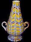 RARE Venetian FRATELLI TOSO Yellow FENICI Vase 1900s