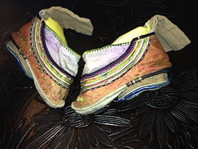 Chinese lily bound feet shoes