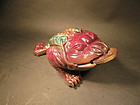 pottery 3 legged lucky toad