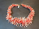 Stylish natural coral branch necklace