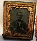 Rare President Lincoln Tin type photo