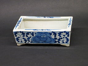 Chinese Blue and white Porcelain flower bowl