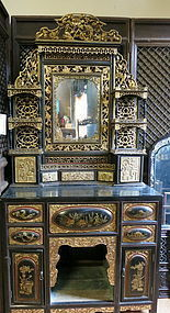 Chinese pierce-carved cabinet