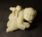 Chinese jade carving of a boy