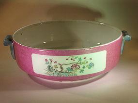 Chinese Guang Xu enamel porcelain bowl