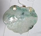 Chinese jadeite and 14k gold pendant