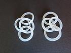 Pair of white jade 4 inter lock chain link earrings