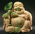 Jadeite Happy Buddha