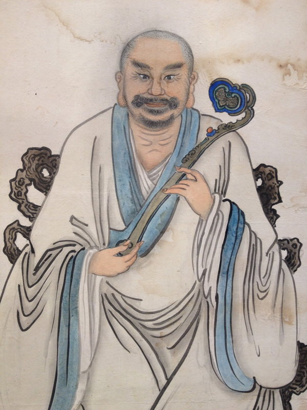 Asian Painting of a Buddist Saint