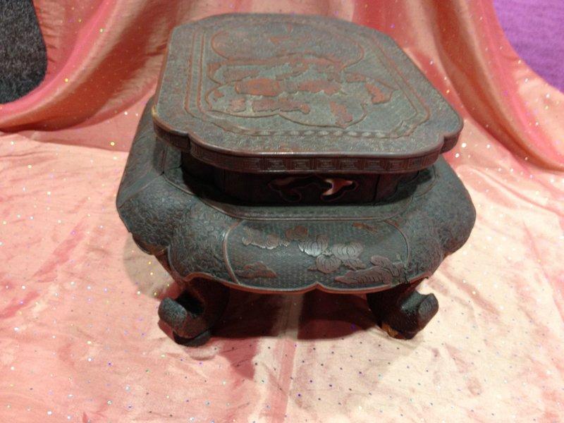 Asian cinnarbar lacquer table