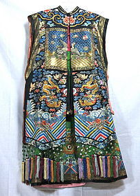 Mandrain official's lady vest with mandrain squares