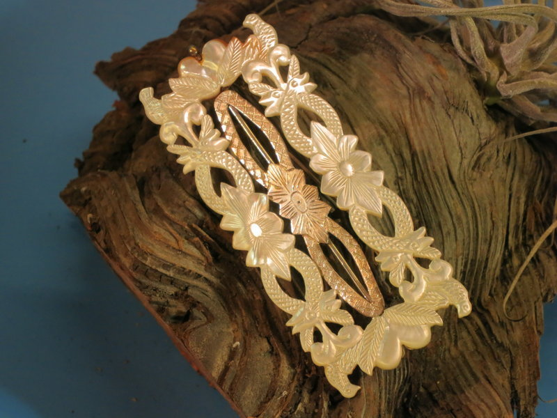 Carved Mother of Pearl brochet