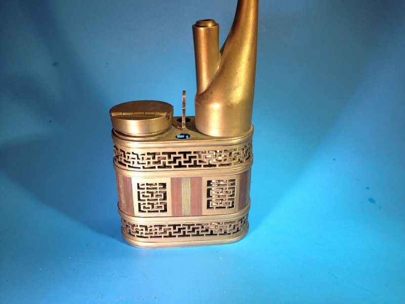 Chinese old white brass and copper water pipe