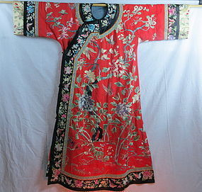 Chinese Manchu style lady's silk robe