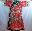 Chinese Manchu style lady's silk robe