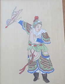 Chinese Painting  ink on paper of a warrior