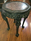 Chinese 19th C. Rosewood stand with marble top