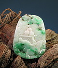 Chinese carved jadeite pendant