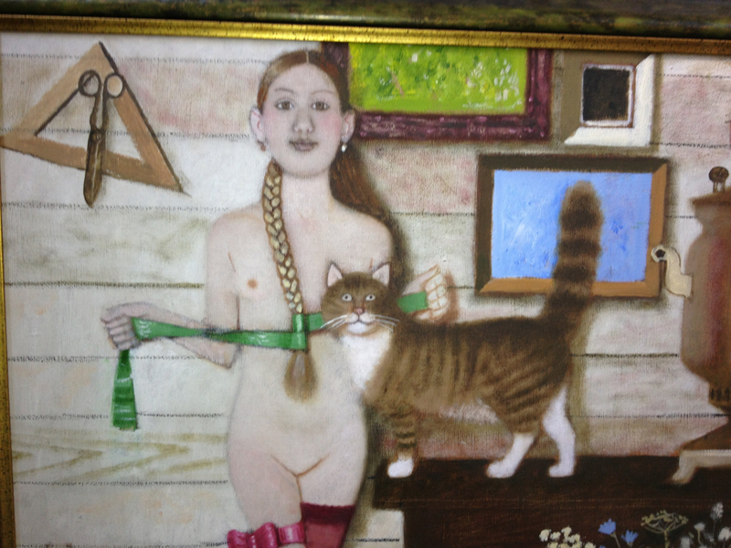 Girl with Cat - Andrei Averyanov - Russian