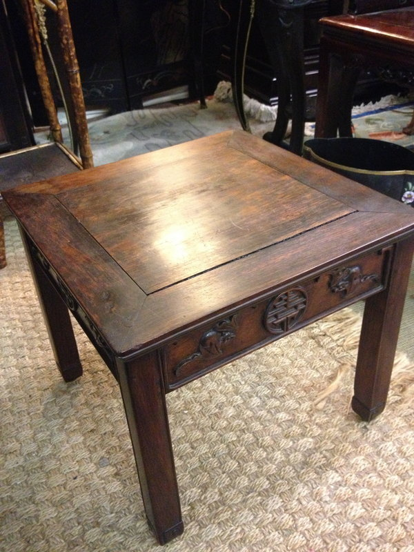 Chinese old Rosewood square low table