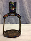 Chinese antique cloisonne enameled metal table object