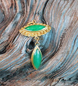 22k gold and Burma Jadeite pendant