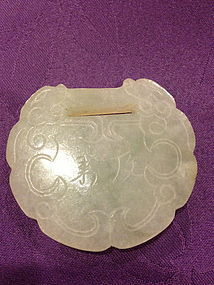 Antique Chinese carved jade pendant