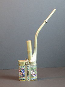 Antique Chinese Chinese cloisonne water pipe