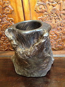 Large Chinese dard hard wood brush holder
