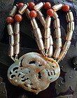 large jade dragon pendant necklace