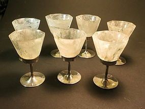 Jadeite silver goblets from Carrington & Co.
