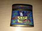 Antique Chinese cloisonne enamel opium box