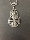 Silver Art Deco pendant necklace