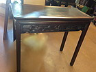 Antique Chinese carved rosewood small alter table