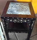 Beautful Chinese mother of pearl inlay table