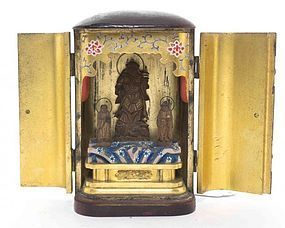 Lacquered Japanese traveling shrine Zushi