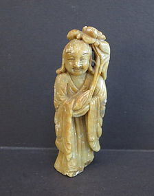 Chinese soap stone figure of a immortal
