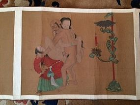 Antique Chinese scroll six ablum leaves