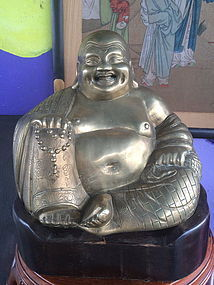 Bronze / brass Happy laughing Buddha Budai