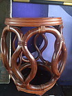 Chinese rosewood drum shape stool